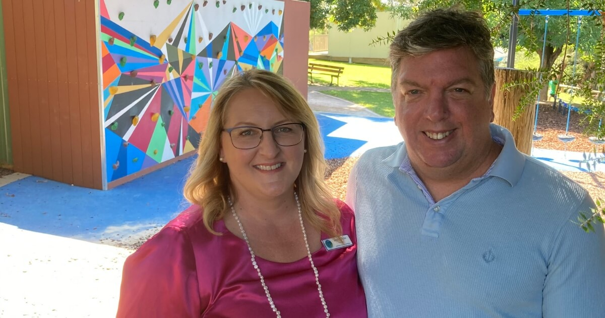 Janet Moeller Principal Lutheran School Wagga Wagga and husband Nick